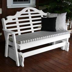 A&L Furniture Co. Marlboro Designer White Wooden Gliders - 571, 572, 573