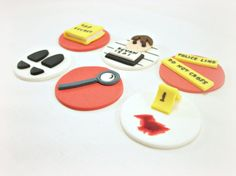 Spy Party Cupcake Fondant Cake Toppers Police Party by LenasCakes