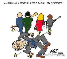 Junker preoccupato per l'Unione