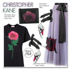 """""""Christopher Kane t With Gazar Rose"""" by paculi ❤ liked on Polyvore featuring Christopher Kane"""