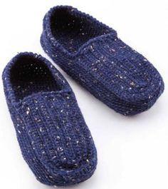 Men's Slippers Crochet Pattern Free