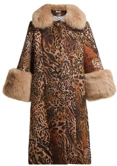 eaf7b183f1 Saks Potts - Yvonne Leopard Print Wool Coat - Womens - Brown Print Best  Winter Coat