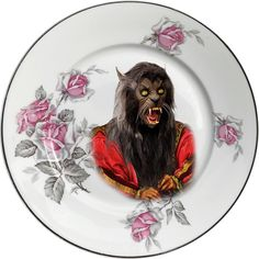 Lord Wolf - Michael Jackson - Thriller - Vintage Porcelain Plate - #0611 by ArtefactoStore on Etsy