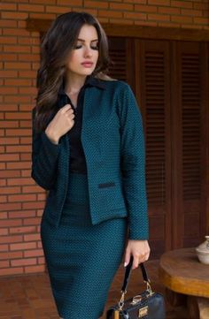 Blazer Feminino Its Best Attire Business 22 Office Fashion, Work Fashion, Modest Fashion, Fashion Outfits, Business Dresses, Business Attire, Suits For Women, Clothes For Women, Look Office
