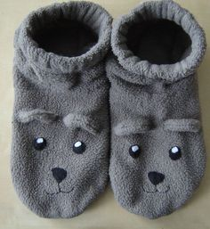DYI - Animal Slippers - a base for making any kind of animal slipper.