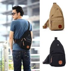 Online Shop 2014 HOT New Fashion sling chest bag for men Small canvas school bag Free Shipping|Aliexpress Mobile