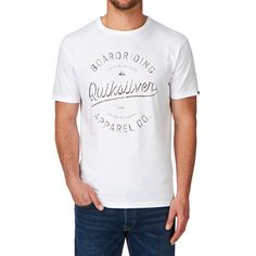 Men's Quiksilver T-shirts - Quiksilver Rhino Chase T-shirt - White