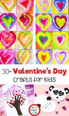 Looking for Valentine crafts for kids to make at home or school? Here, you'll find a long list of must-see, cute + easy Valentines crafts for kids to make, including preschool Valentine crafts for kids and Valentines art for kids, many of which were created by Arty Crafty Kids. Get over 50 Valentines Day arts and crafts for kids ideas here! Valentine Art Projects for Kids | Valentines Day Crafts for Kids | Valentine Arts and Crafts for Kids | Valentines Art for Kids | Valentine Art Painting Valentines Art For Kids, Preschool Valentine Crafts, Valentines Day Activities, Fun Activities, Valentine's Day Crafts For Kids, Craft Projects For Kids, Art Projects, Craft Ideas, Valentine's Cards For Kids