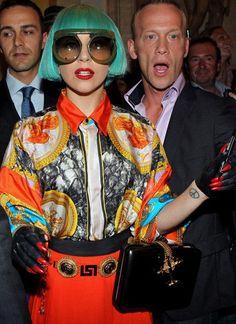 Gaga in vintage Versace