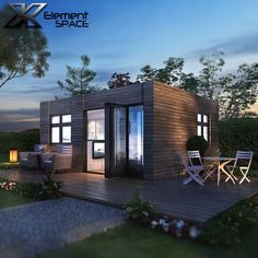 2 units 20ft luxury container homes design, prefab shipping