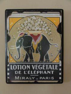 Vintage Elephant Advertisement Postcard Sign Decoration - $15.00
