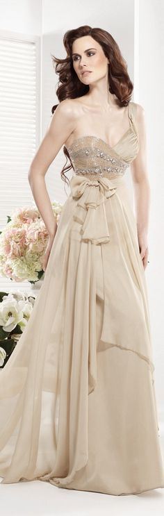 Tarik Ediz couture ~   beautiful neutral!