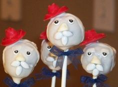 Mom's Killer Cakes & Cookies Ole Miss Mascot Beloved Colonel Reb Cake Pops…