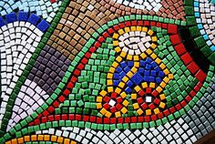 Mosaiktisch, Mosaictable, table, Terassentisch, Mosaik, Mosaic Monster, Red Apple, Bunt, Mosaic Stones, House Exteriors, Crafts, Projects, Crafting