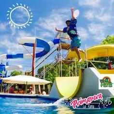 Parque Acuático La Rana. Siempre es un buen momento para tomarte un break. 🌴 👙☀️
