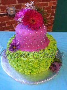 My Leylah's green and purple birthday cake
