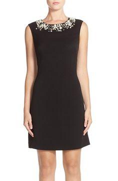 Eliza J Embellished Crepe Sheath Dress available at #Nordstrom