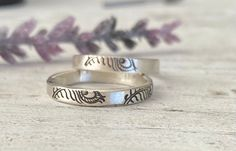 Sterling Ring Bands / Feather Jewelry / Hand stamped rings / Gift unisex #silver #unisexadults #etsy #simplesilverring #silverbandrings Ankle Booties, Bootie Boots, Band Rings, Bands, Celebrity Shoes, Anthropologie Shoes, Feather Jewelry, High Heel Boots, Beautiful Shoes