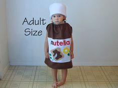 Traje adulto Nutella Halloween Costume avellana por TheCostumeCafe