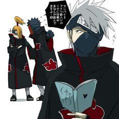Kakashi looks gewd in Akatsuki tho