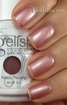 what I'm wearing    Gelish Glamour Queen Swatch