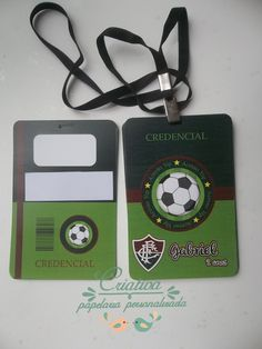 Convite futebol credencial