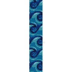 BLUE OCEAN WATER CURLS - PEYOTE beading pattern for cuff bracelet