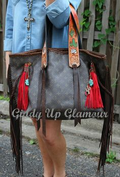 Leather and Vodka Geronimo Bag with Mexican Themed Strap