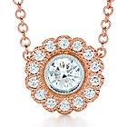 Tiffany & Co. | Item | Tiffany Enchant flower pendant in platinum and 18k rose gold with diamonds. | United States