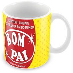 Caneca Porcelana Personalizada Pai Bombril 1001 Utilidades - ArtePress | Brindes Personalizados, Canecas, Copos, Xícaras