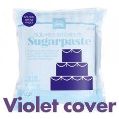 Fondant in violett von Squires Kitchen zum Eindecken Ihrer Torte oder zum Modellieren von Figuren. #Fondant