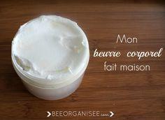 mon beurre corporel fait maison                                                                                                                                                      Plus Make Beauty, Beauty Care, Handmade Cosmetics, Beauty Recipe, Natural Cosmetics, Organic Skin Care, Better Life, Body Care, Health And Beauty