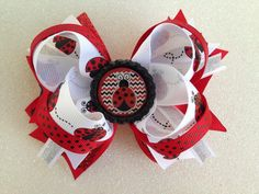 Stacked red black polka dot lady bug bottle cap by LillyBeanBowtique on Etsy https://www.etsy.com/listing/279899980/stacked-red-black-polka-dot-lady-bug