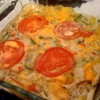 Eat this whole pan of #glutenfree and #caseinfree crustless quiche for less than 330 calories! Easy recipe.