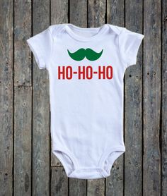 Ho-Ho-Ho Onesie®/ Mustache Onesie®/ Christmas Onesie®/ First Christmas/ Holiday outfit/ Baby boy onesie®/ Happy Holidays/ Winter Season by BeutiqueCreations on Etsy