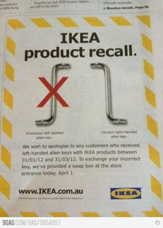 1 April joke | IKEA Australia