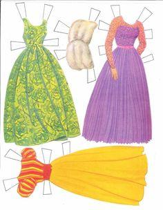 "Patty Duke [& Cathy] Paper Dolls: inspired by the ""Patty Duke TV Show"" (6 of 7), 1964 Whitman #1991"