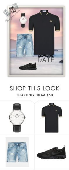 """""""summerdate"""" by casuallifestyle ❤ liked on Polyvore featuring Seed Design, Daniel Wellington, Fred Perry, Levi's, NIKE, Dot & Bo, statefair and summerdate"""