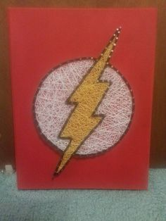 Hey, I found this really awesome Etsy listing at https://www.etsy.com/listing/223840611/12x16-dc-comics-flash-superhero-string