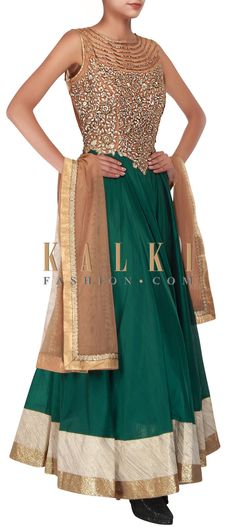 Buy Online from the link below. We ship worldwide (Free Shipping over US$100) http://www.kalkifashion.com/emerald-green-anarkali-embellished-in-zardosi-and-thread-embroidery-only-on-kalki.html