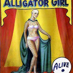 Alligator girl!