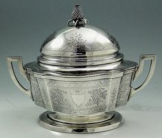 Shreve Crump and Low Heavy Sterling Butter Dish