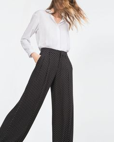 Image 2 of POLKA DOT TROUSERS from Zara
