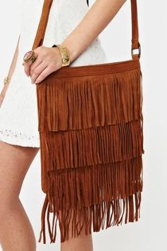 Hudson Fringe Bag - Camel in  Accessories Bags at Nasty Gal