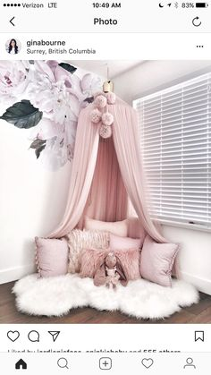 Currently having some mommy + Emmalyn time before heading out to my appointments for the day. Love our story time/cuddle sessions in this… bedroom 23 Sweet Baby Girl Room Ideas which Will make baby sleeping comfortable Girl Bedroom Designs, Design Bedroom, Girls Room Design, Baby Bedroom, Girl Toddler Bedroom, Girls Bedroom Canopy, Kids Bedroom Ideas For Girls Toddler, Girl Kids Room, Home Decor Ideas