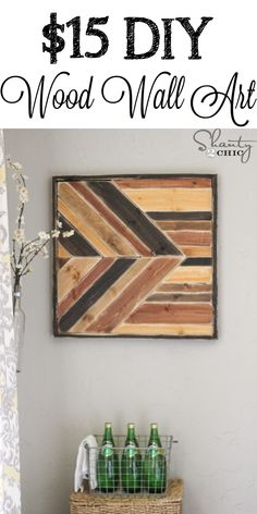 House projects DIY Wall Art ~ Pallet Design - Shanty 2 Chic Your Own Home Interior Ideas 2008 Keywor Diy Wood Pallet, Pallet Wall Art, Wooden Wall Art, Diy Pallet Projects, Diy Wall Art, Wooden Diy, Wall Art Decor, Wood Projects, Woodworking Projects