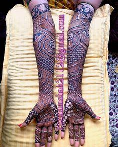 "✨ Daily Henna Inspiration ✨ on Instagram: ""heavy bridal arms 💫 // by @poonammehendi_hennaartist . . . #bridalmehendi #mumbai #mehndidesign #mehndi #hennadesign #hennainspo"""