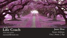 Beautiful Purple Trees Lining Walking Path Life Coach Business Cards http://www.zazzle.com/life_coach_business_card-240702667347414384?design.areas=%5Bbusiness_front_horz%2Cbusiness_back_horz%5D&rf=238835258815790439&tc=GBCCounseling1Pin