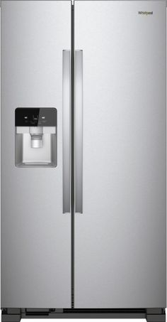 Whirlpool - 24.6 Cu. Ft. Side-by-Side Refrigerator - Stainless steel - Front_Zoom