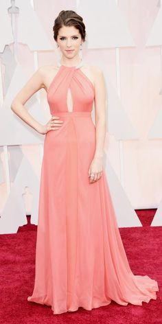 Anna Kendrick at the 2015 Academy Awards Red Carpet Arrivals, wearing a gown by Thakoon -  from #InStyle